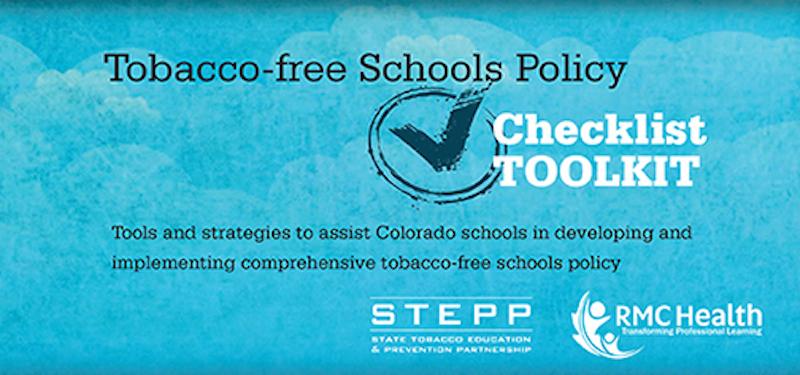 Tobacco Free Schools Policy Checklist Tobacco Free School Policy